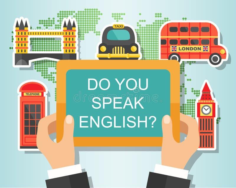 Spreekt u het Engels royalty-vrije illustratie