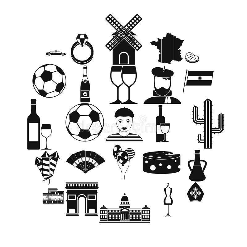 Spreel ikony ustawiać, prosty styl ilustracja wektor