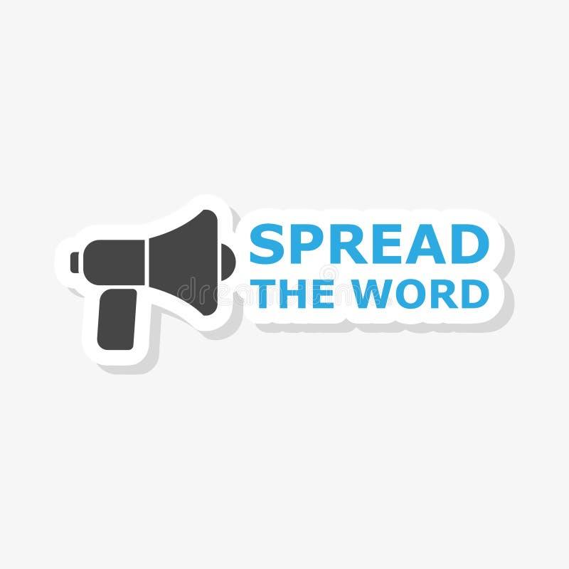 Spreid de Word de Megafoonmegafoon uit van de Aandeelinformatie royalty-vrije illustratie