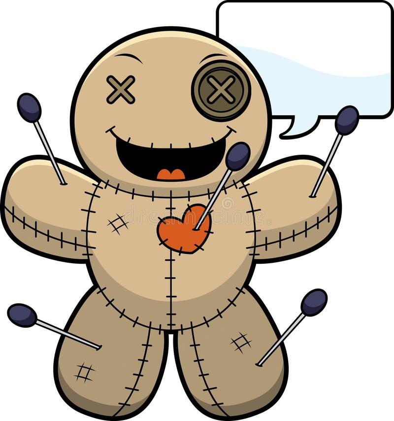Sprekend Doll van het Beeldverhaalvoodoo vector illustratie