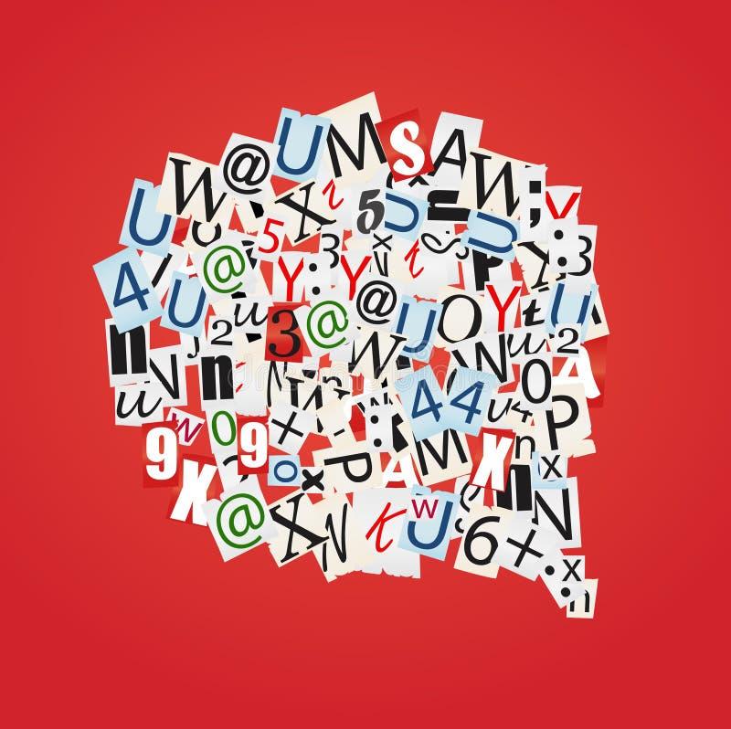 Sprekende bellen vector illustratie