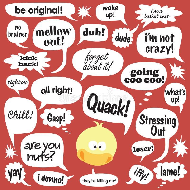 Sprekende Eend stock illustratie