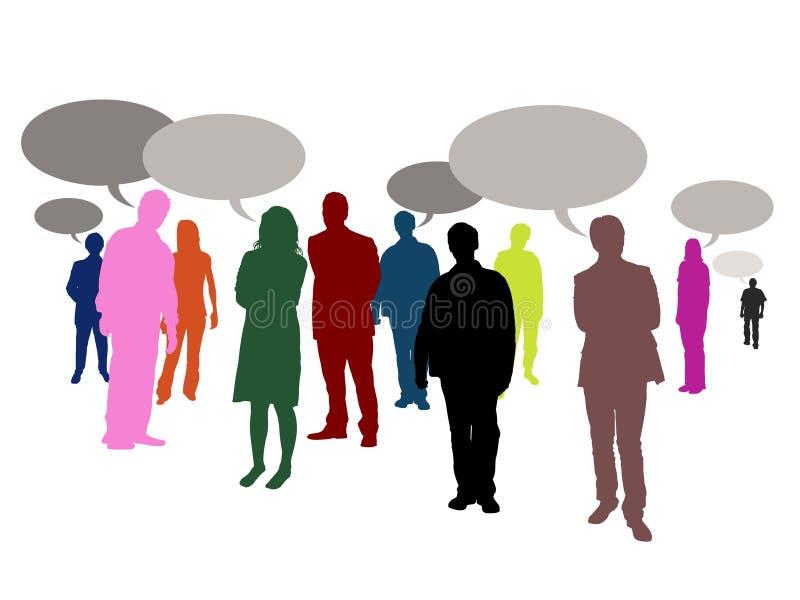 Sprekende mensen stock illustratie