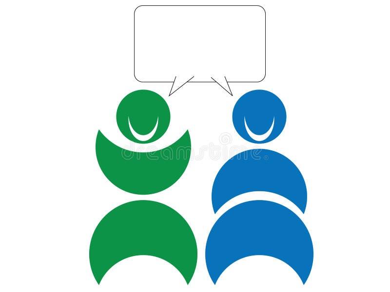 Sprekende mensen vector illustratie