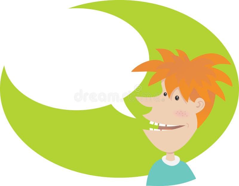 Sprekende tiener stock illustratie