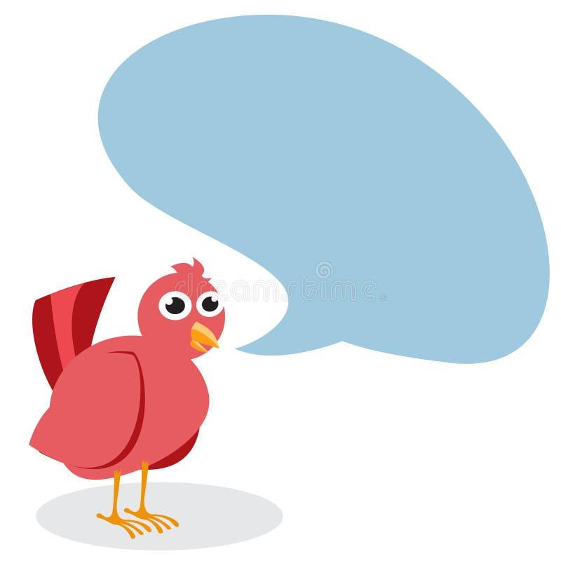 Sprekende vogel royalty-vrije illustratie