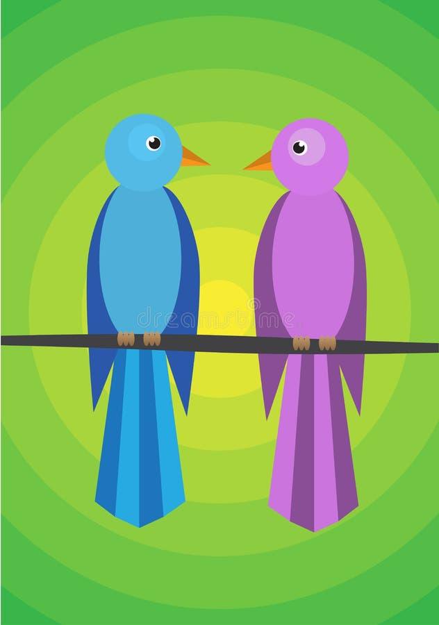 Sprekende vogel vector illustratie