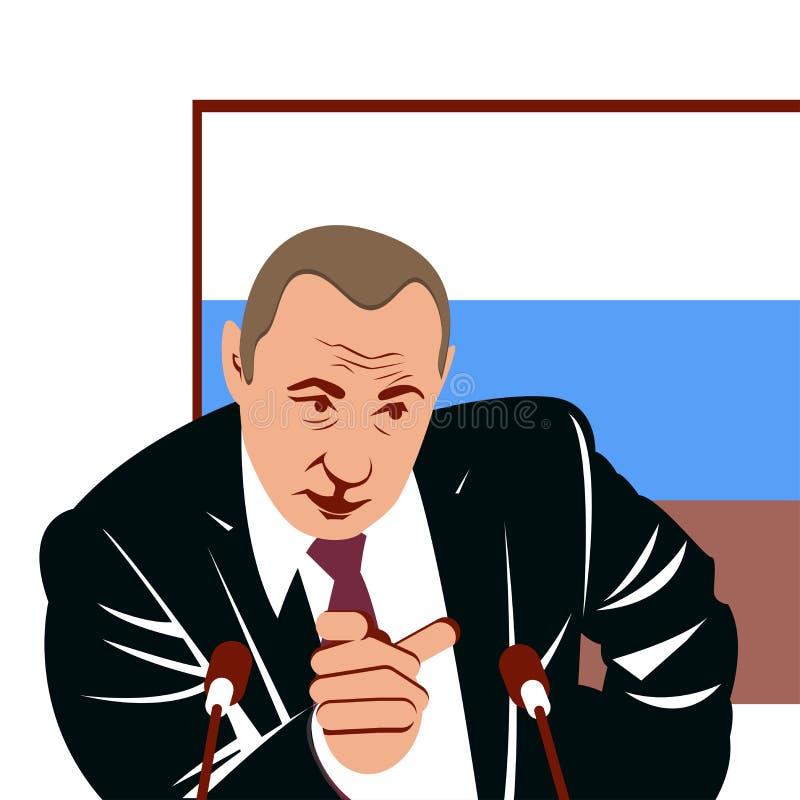 Spreker die bij politieke onderhandelingen spreken royalty-vrije illustratie