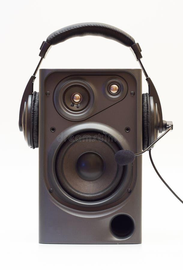 Spreker en hoofdtelefoons royalty-vrije stock afbeelding