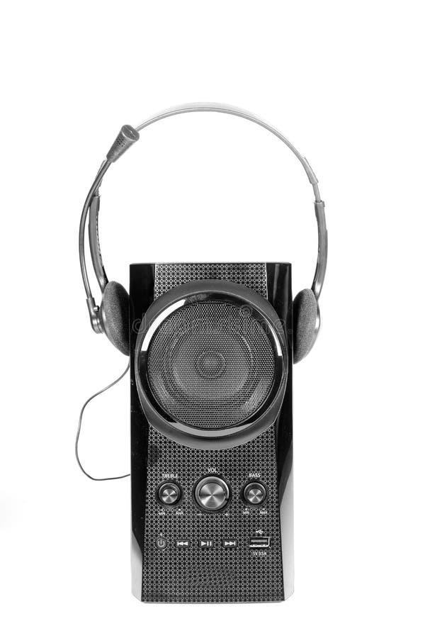 Spreker en hoofdtelefoons stock afbeelding
