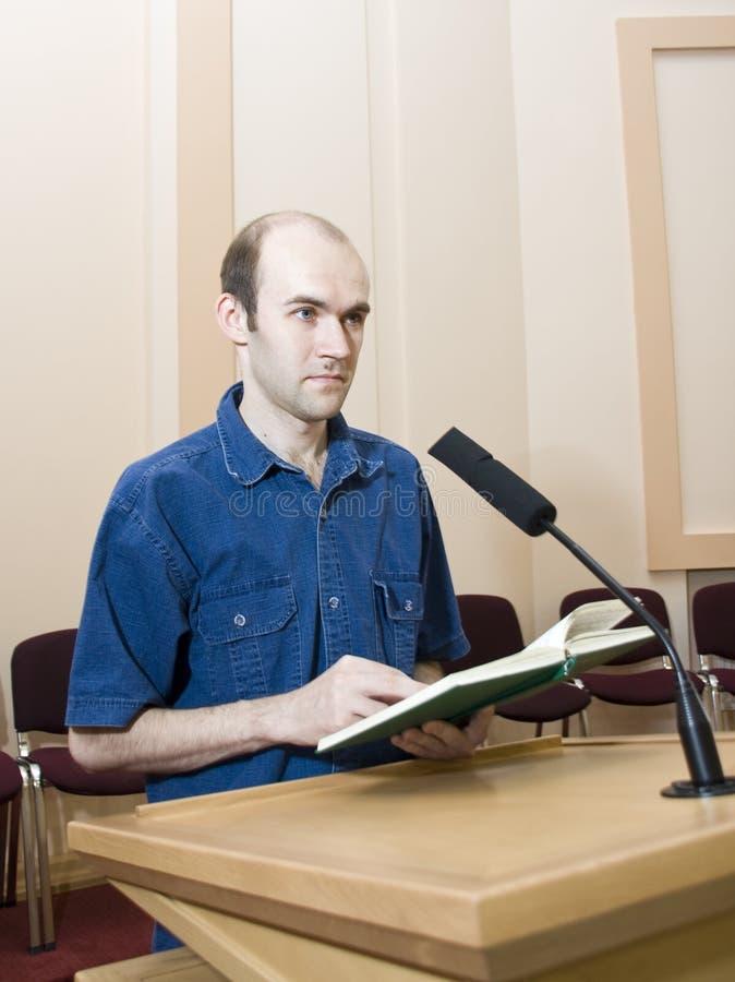 Spreker en microfoon stock afbeeldingen