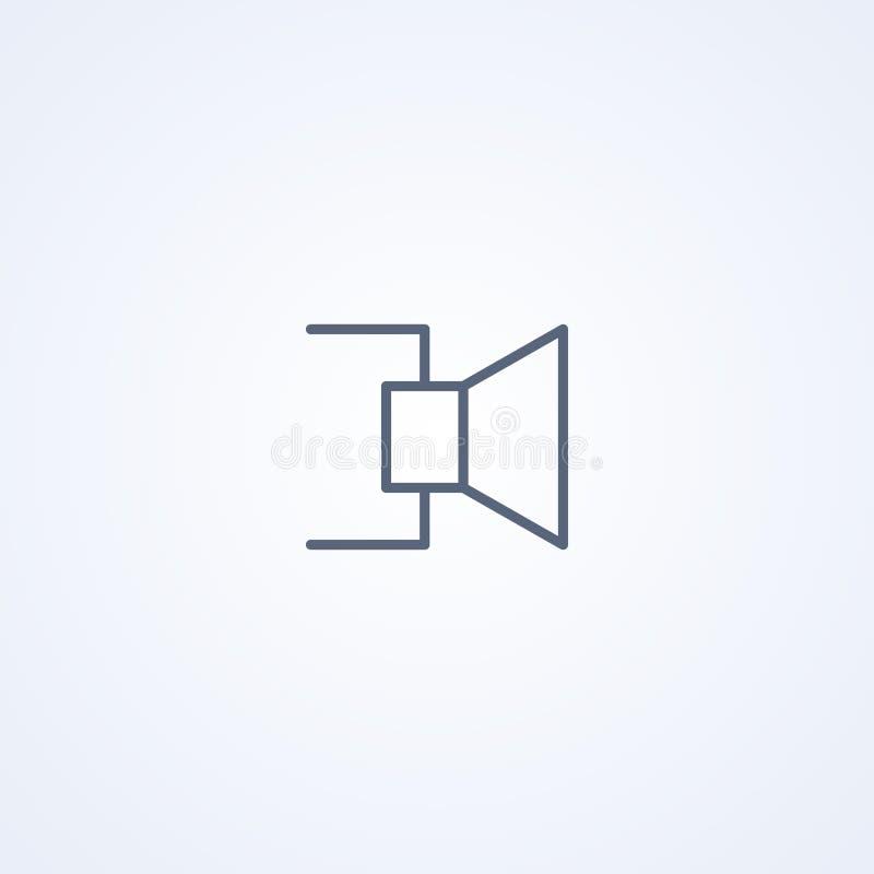 Spreker, vector beste grijs lijnsymbool stock illustratie
