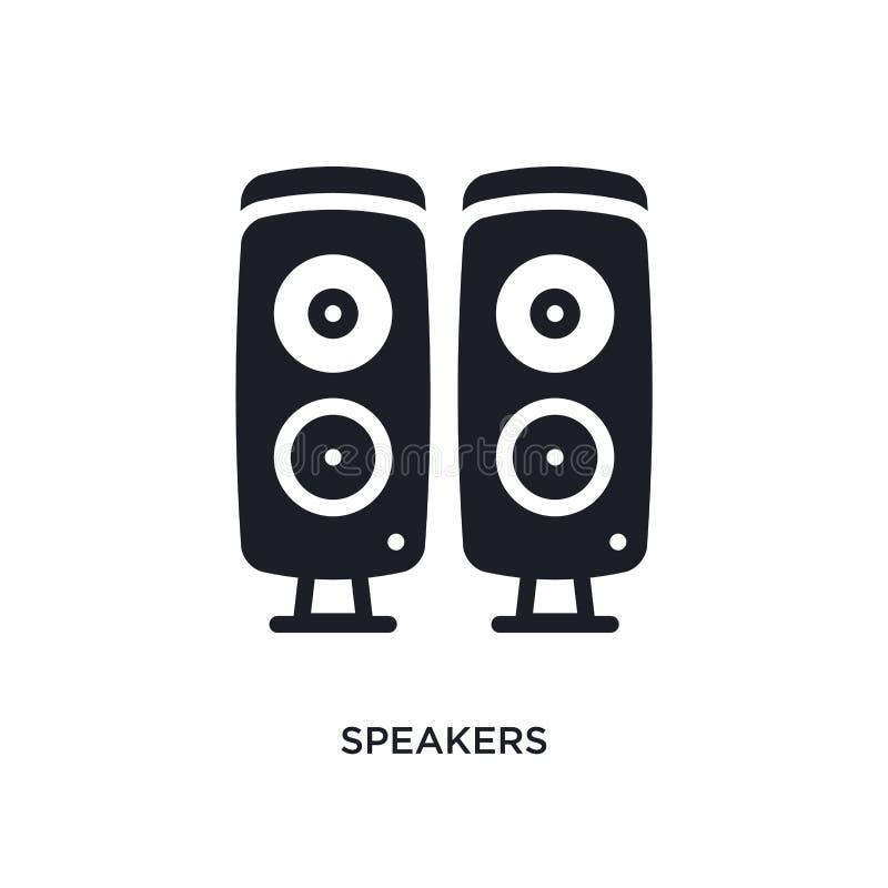 sprekers geïsoleerd pictogram eenvoudige elementenillustratie van de elektronische pictogrammen van het apparatenconcept het teke vector illustratie