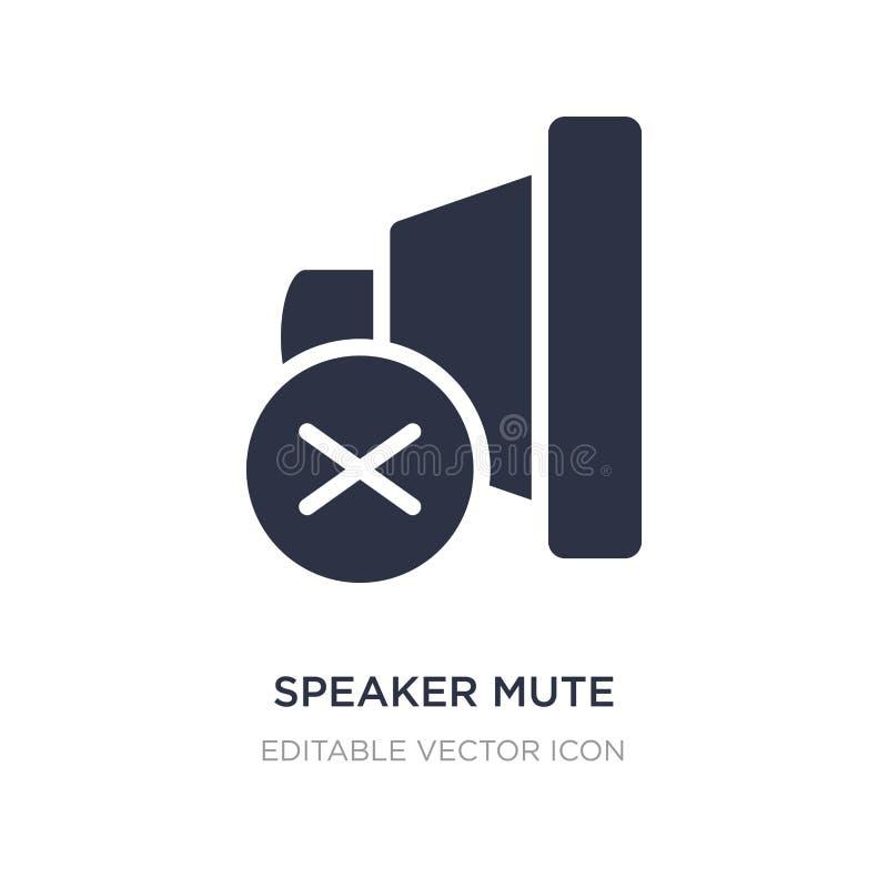 sprekers stod pictogram op witte achtergrond Eenvoudige elementenillustratie van het concept Van verschillende media vector illustratie