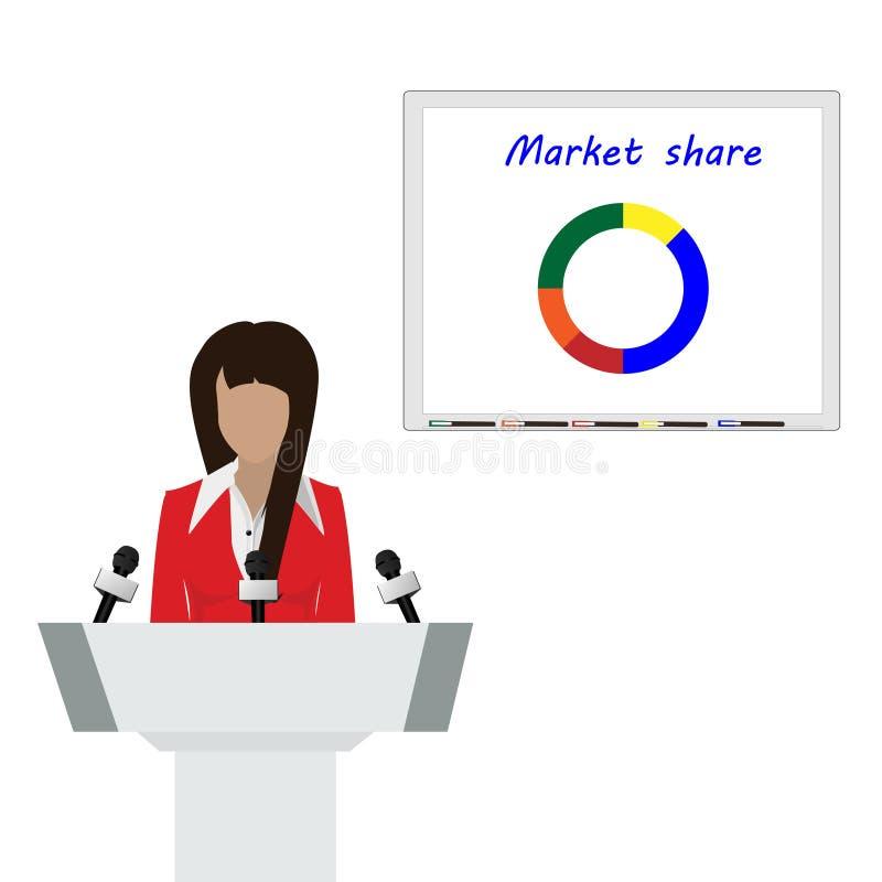 Sprekerspersoon stock illustratie