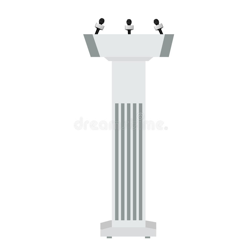 Sprekerspodium stock illustratie