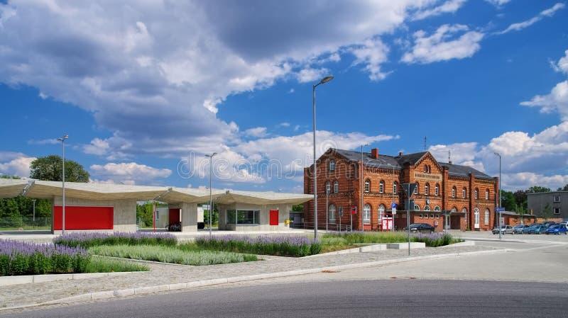 Spremberg-Bahnhof lizenzfreies stockfoto
