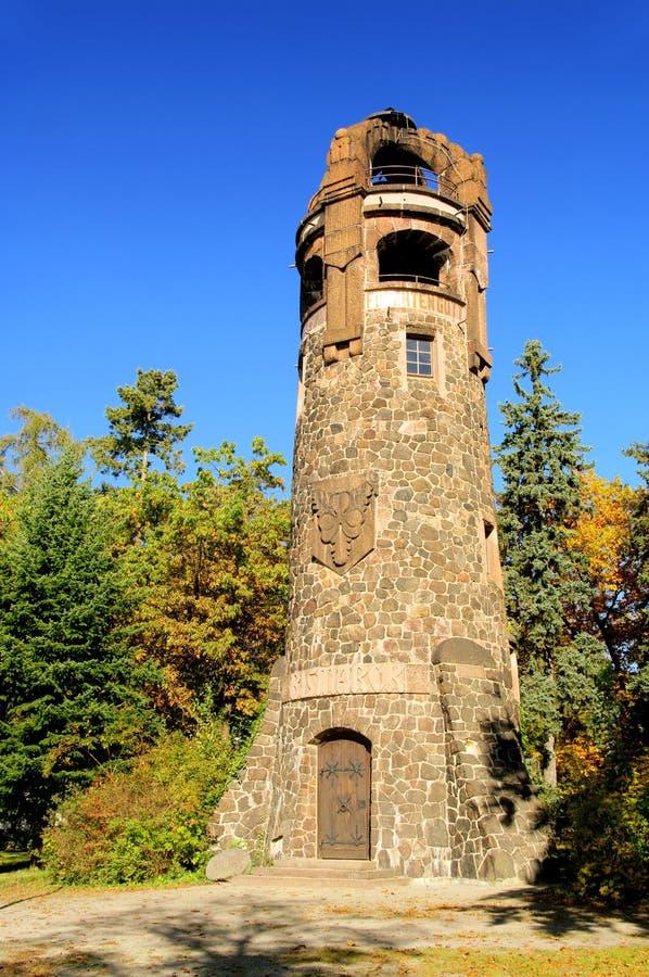 Spremberg Bismarck Kontrollturm stockbilder