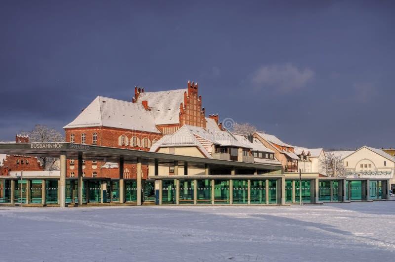 Spremberg-Busbahnhof stockbild