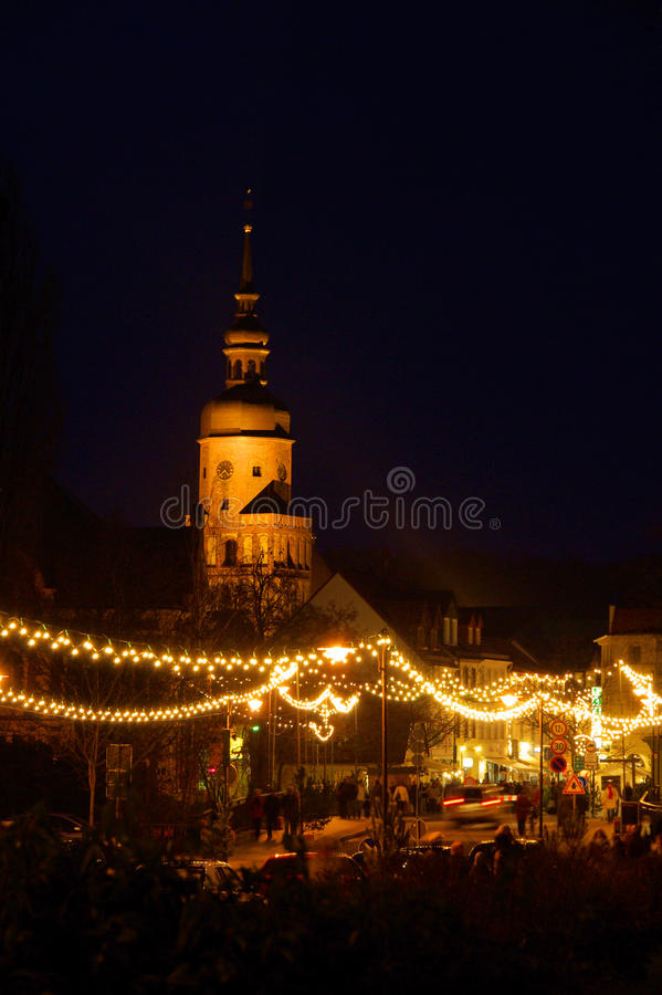 Spremberg julmarknad arkivbilder