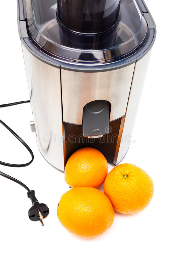 Spremiagrumi ed arance fotografie stock
