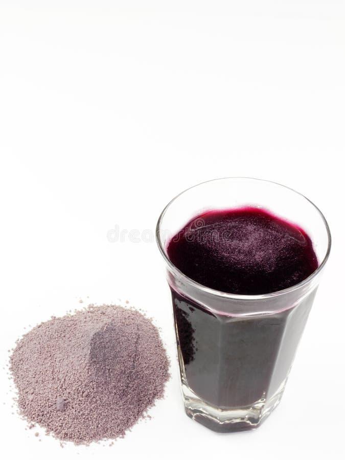 Spremuta della polvere della frutta fotografie stock