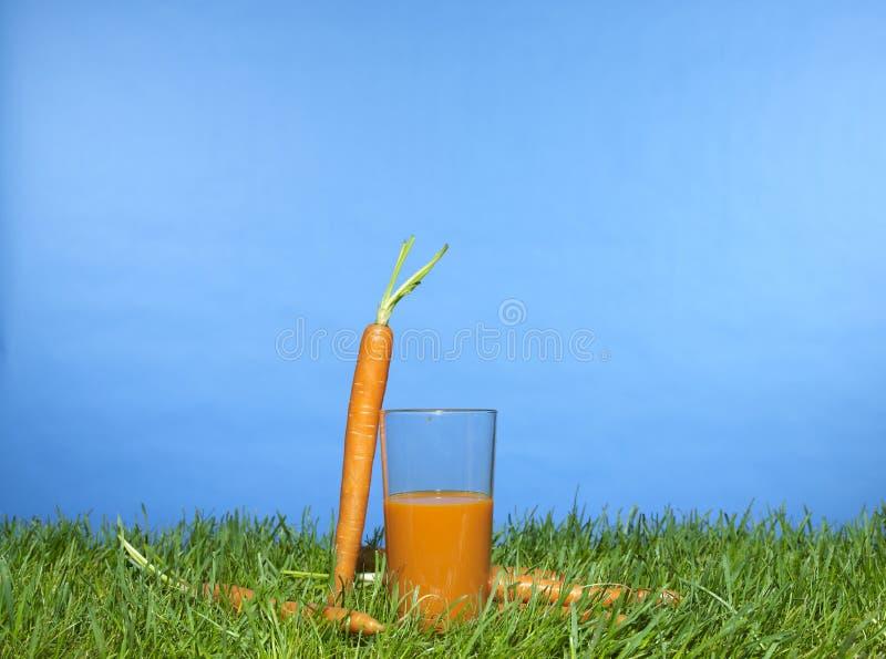 Spremuta di carota fotografia stock