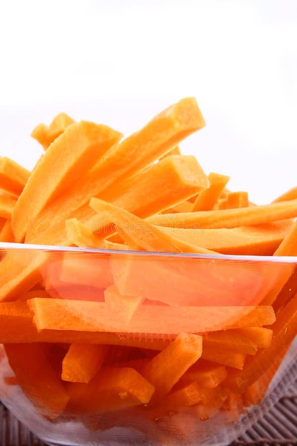 Spremuta di carota fresca isolata fotografia stock libera da diritti