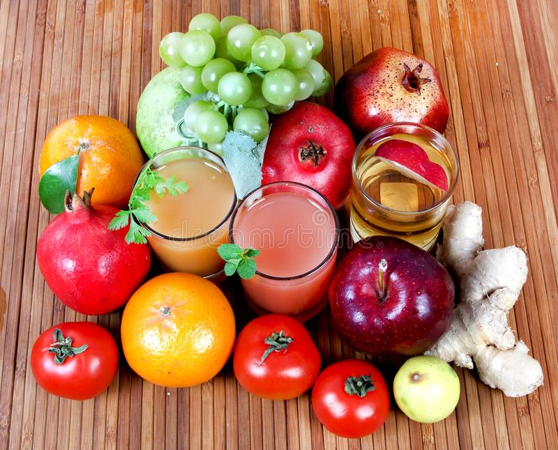 Spremute della frutta fresca fotografia stock