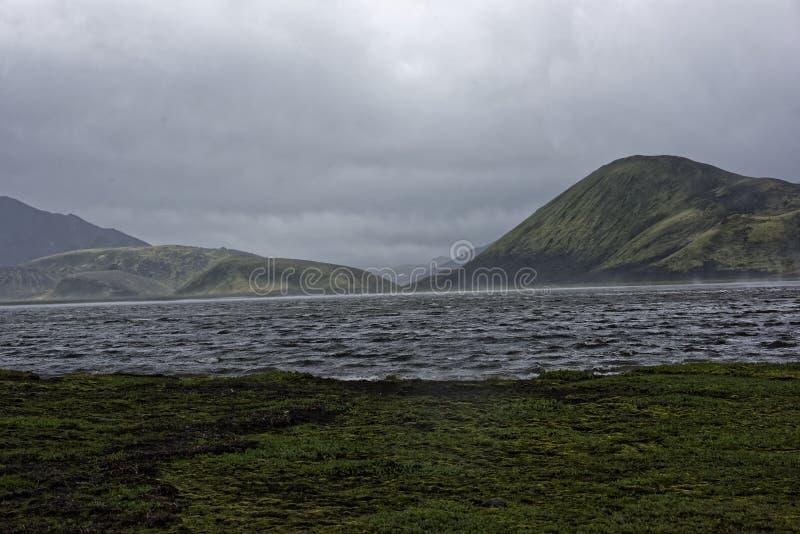 Sprengisandur, meseta de la montaña en Islandia fotos de archivo