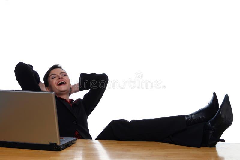 Sprengung heraus lachen lizenzfreies stockfoto