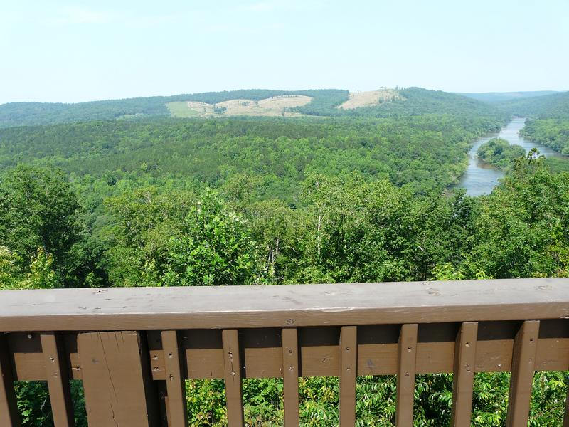 Sprewell Bluff and Flint River Overlook stock images