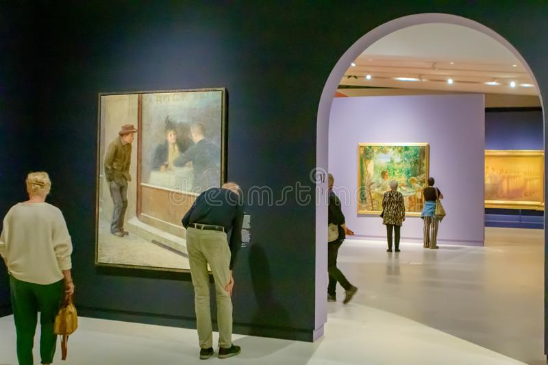 The Sprezzatura exhibition. With Italian paintings in the Drents Museum, Assen, the Netherlands royalty free stock photos