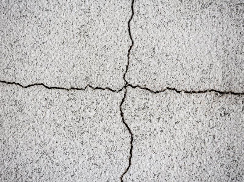 Spricka i betongväggen royaltyfri bild