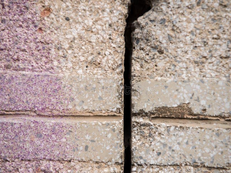 Spricka i betongväggen royaltyfria bilder