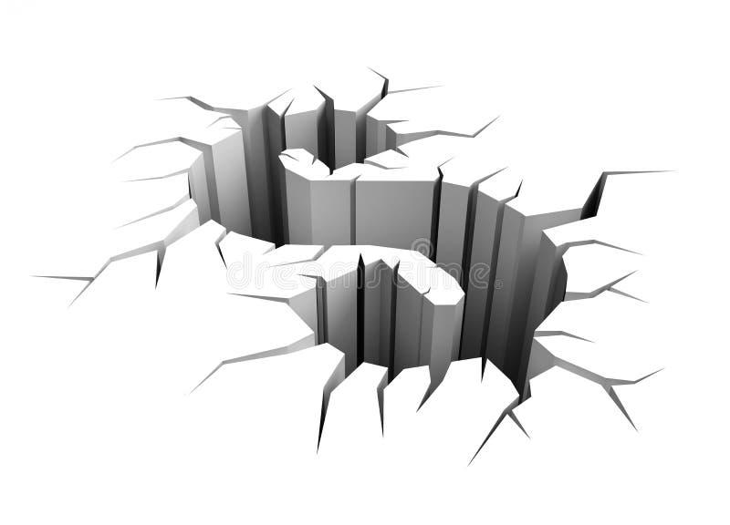 sprickadollarjord stock illustrationer