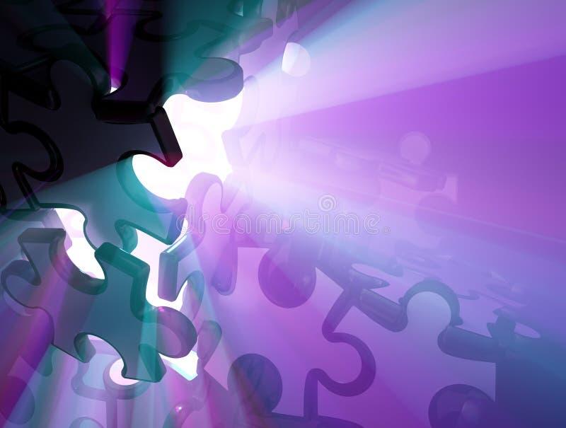 sprickajigsawlampa vektor illustrationer