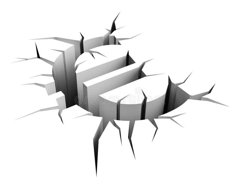 sprickajordeuro vektor illustrationer