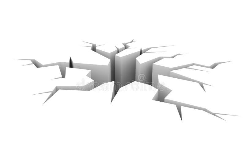 sprickajordjordning vektor illustrationer