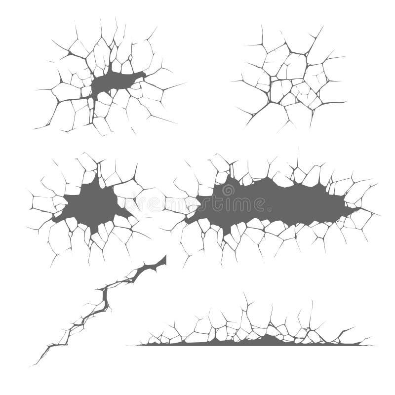 sprickor vektor illustrationer