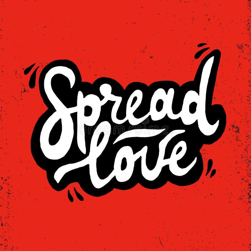 Spridd förälskelseromantikerinskrift Hälsningkort med kalligrafi Hand dragen bokstäver Typografi för inbjudan, baner, affisch stock illustrationer