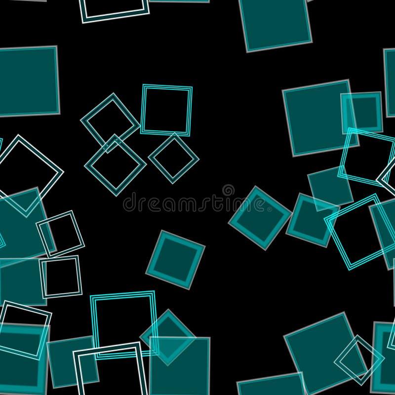 Spridd fyrkantAqua arkivbild