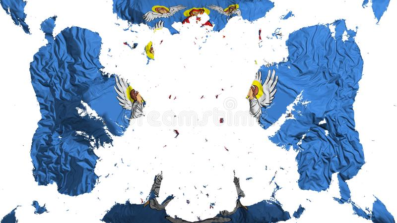 Spridd Minsk flagga stock illustrationer