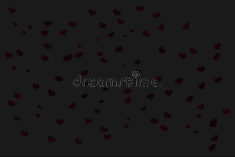 Spridda hjärtakonfettier vektor illustrationer