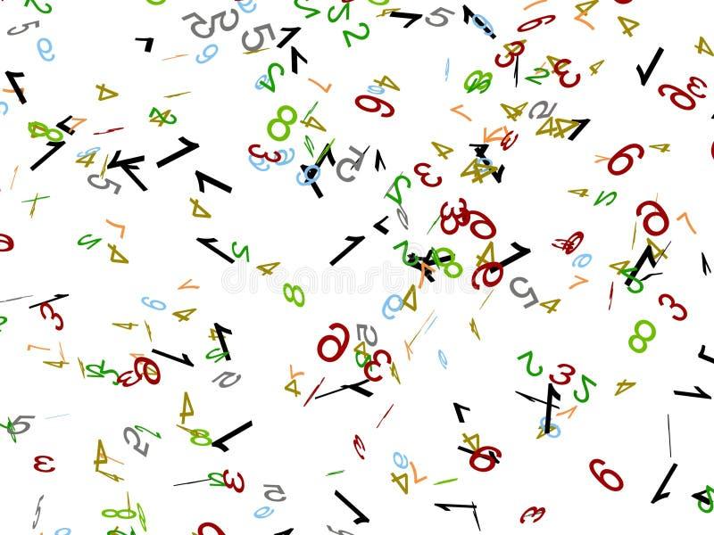 spridda nummer vektor illustrationer