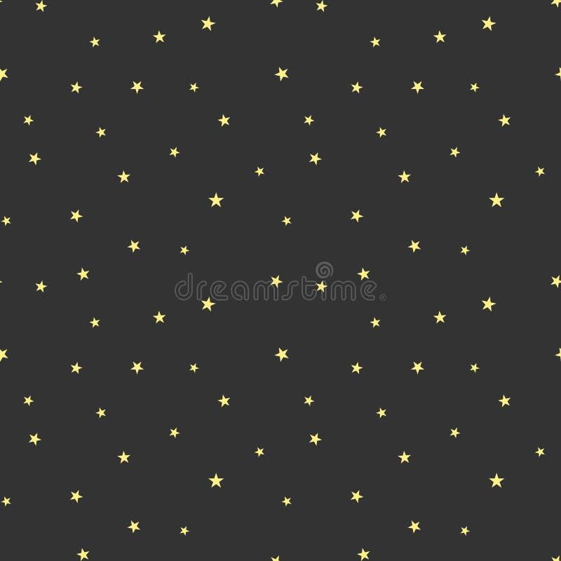 Spridda stjärnor royaltyfri illustrationer