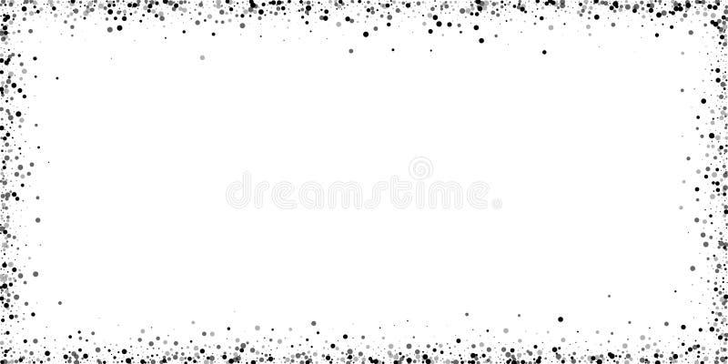 Spridda täta baksidaprickar Mörker pekar spridning stock illustrationer