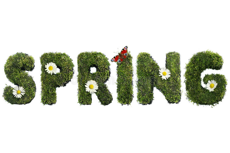 Download Spring stock image. Image of word, white, concept, butterfly - 24090299
