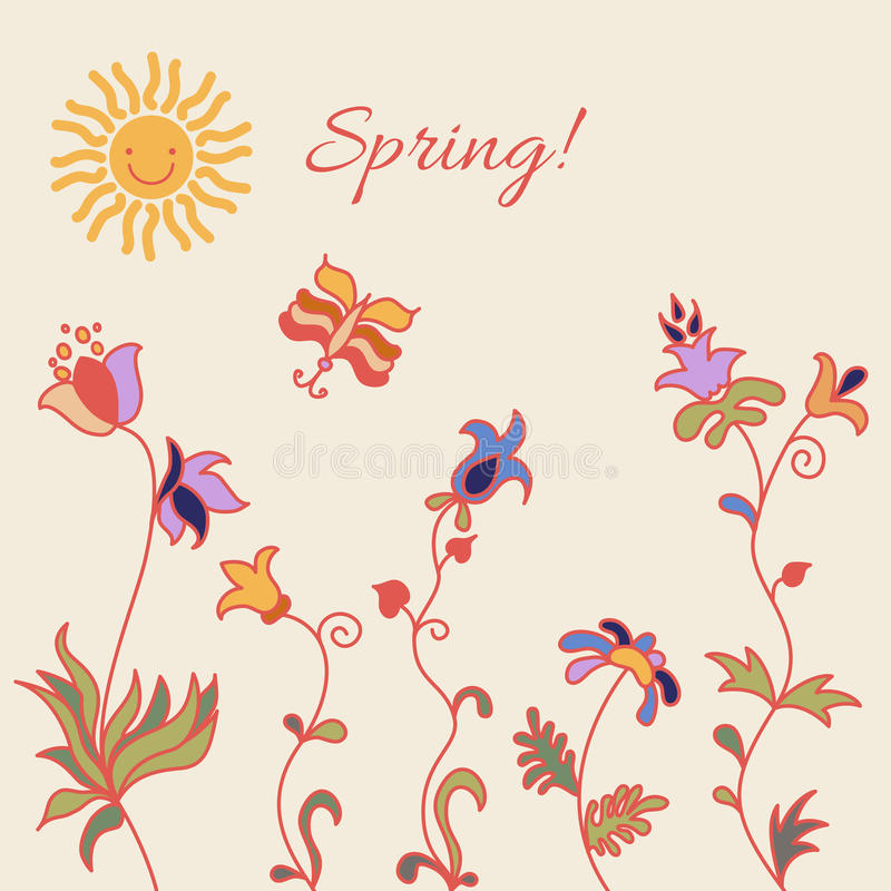 Spring1 stock illustratie