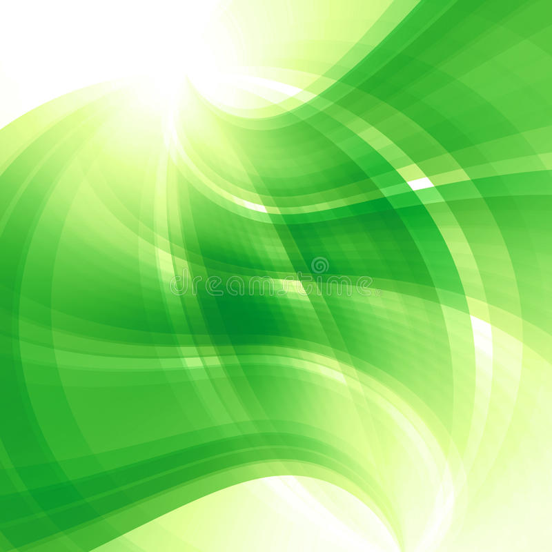 Spring Abstract Green Background Stock Illustration